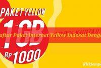 Cara Daftar Paket Internet Yellow Indosat Dengan SMS