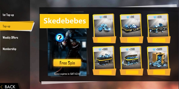 Skedebebes Top Up FF
