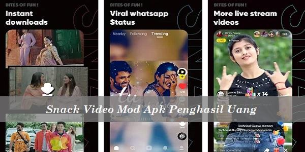 Snack Video Mod Apk Penghasil Uang